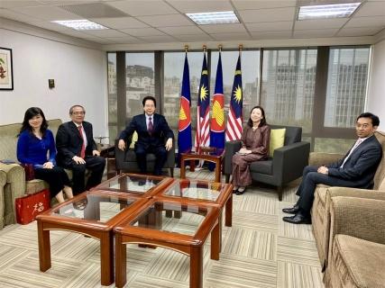 拿督劉康捷理事長率同本會理事 拜訪新任馬來西亞駐臺首席代表