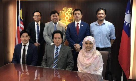 本會拿督劉康捷理事長接待三井住友海上集團-明台產物保險公司